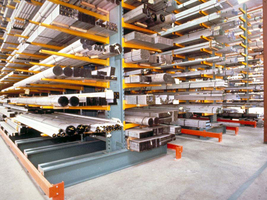 Cantilever Racks holding up metal stock